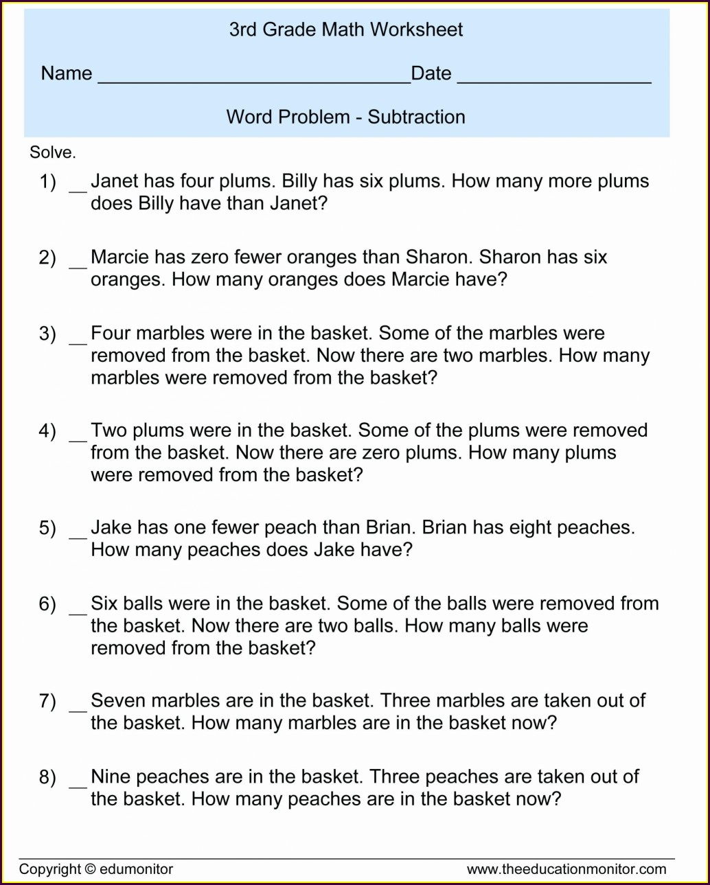 Multiplying Decimal Word Problems Worksheet Grade 5