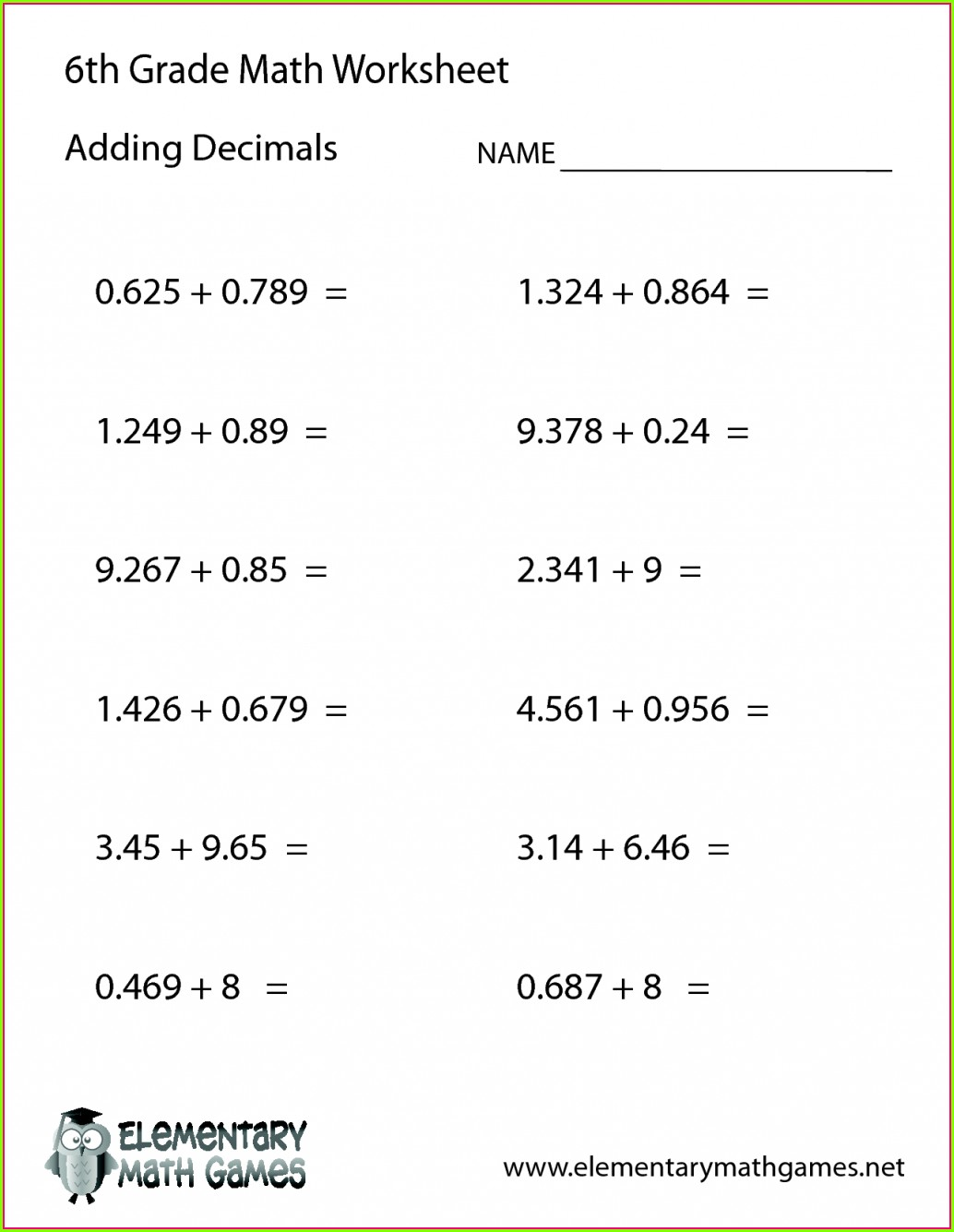 Order Of Operations 3rd Grade Worksheets