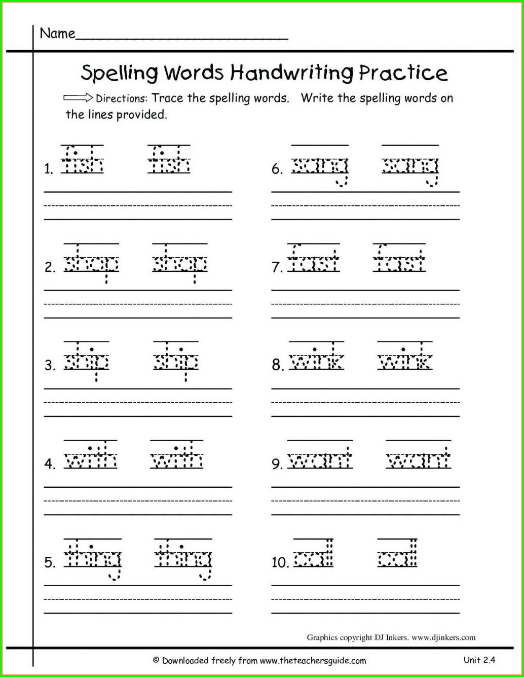 Phonics Kindergarten English Worksheets Pdf