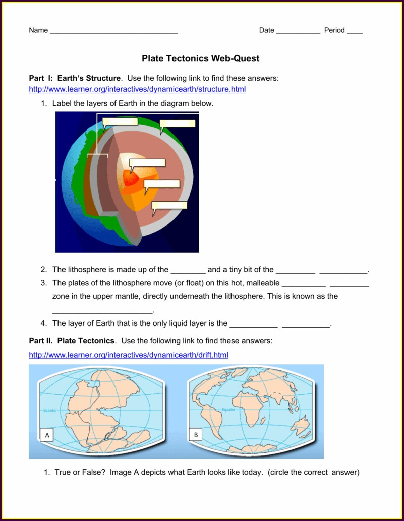 Plate Tectonics Worksheet Apes Answers