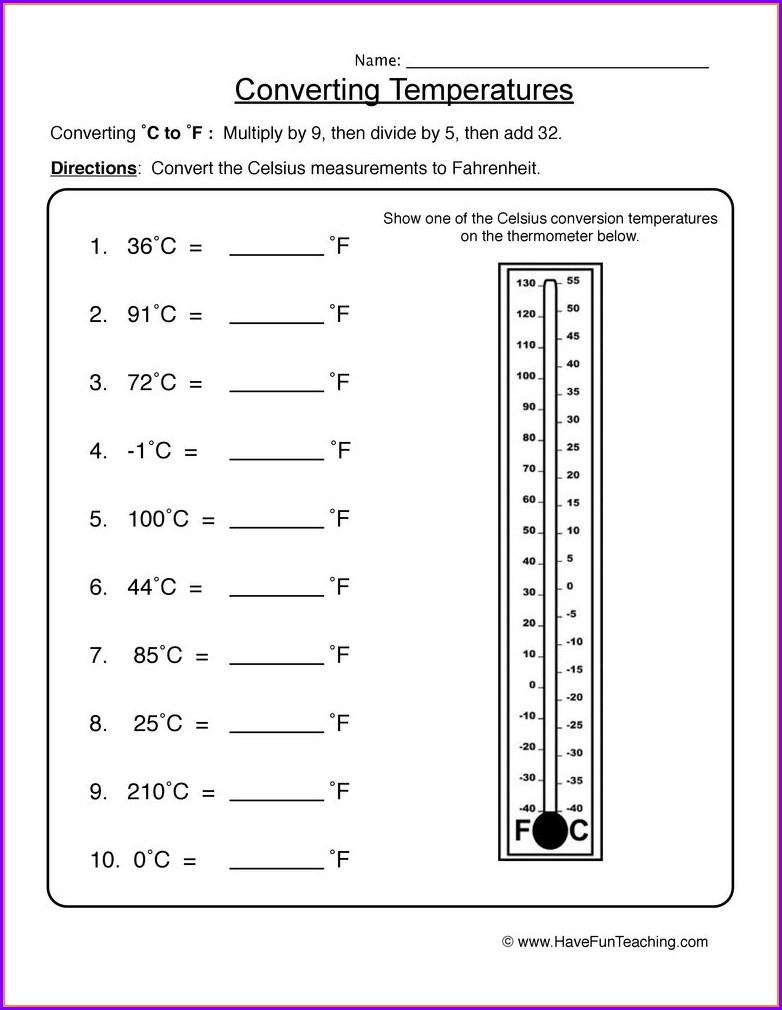 Reading A Thermometer Worksheet 3rd Grade