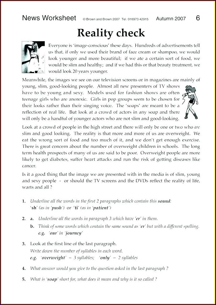 Reading Comprehension Grade 7 English Worksheets With Answers