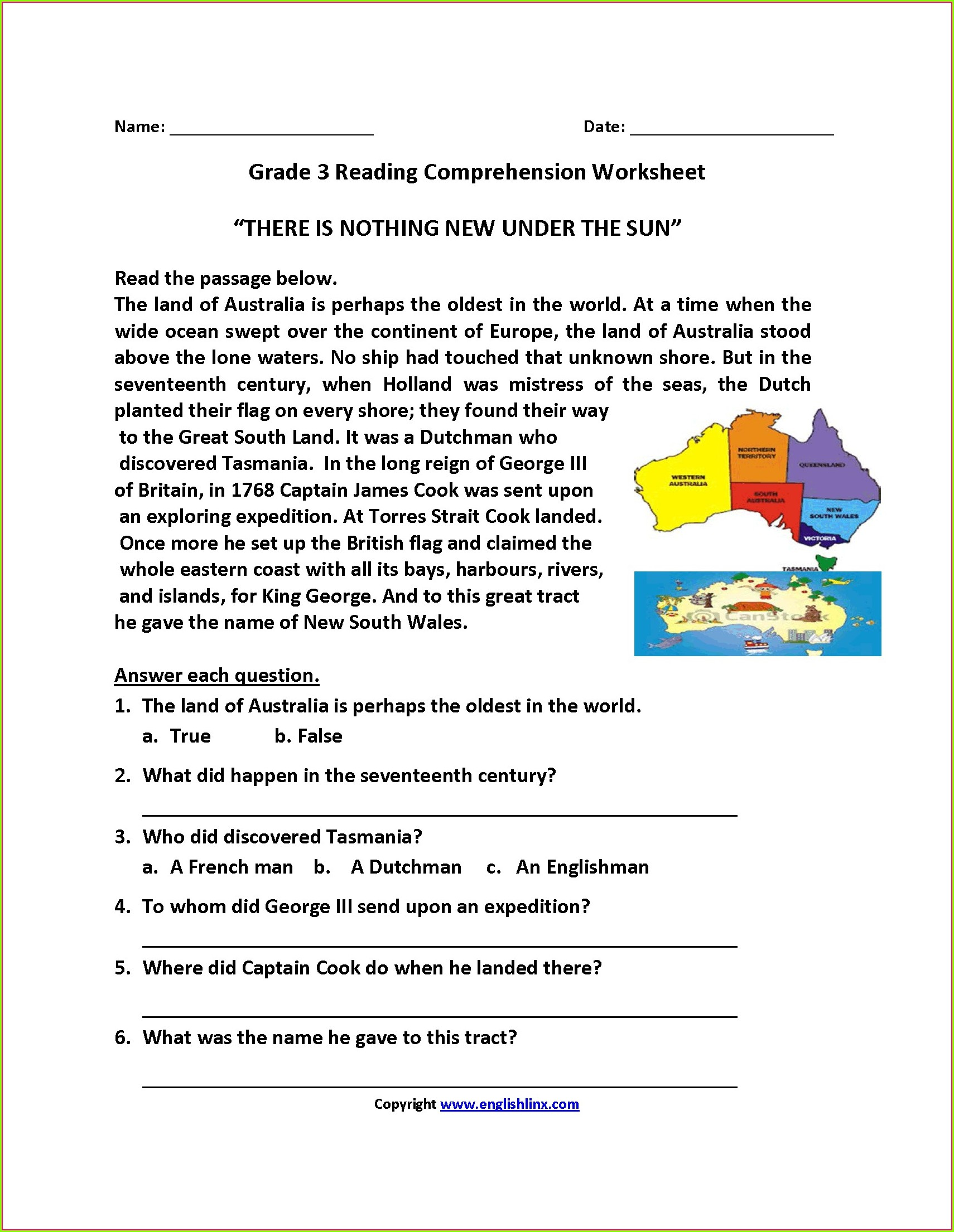 Reading Comprehension With Worksheets