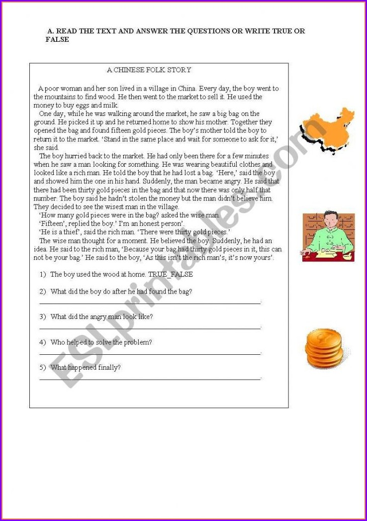 Reading Comprehension Worksheet Grade 1 Pdf