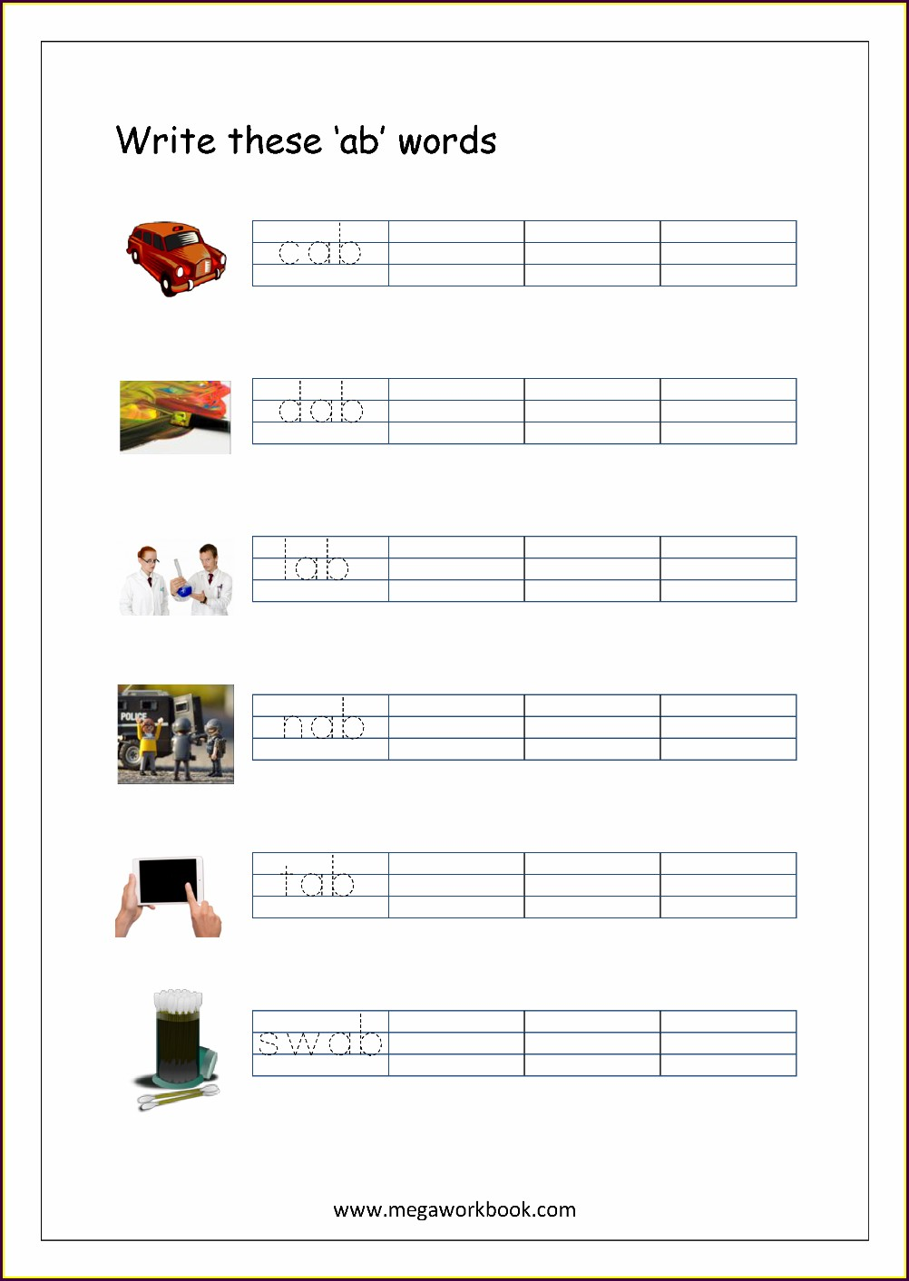 Rhyming Words Free Worksheets