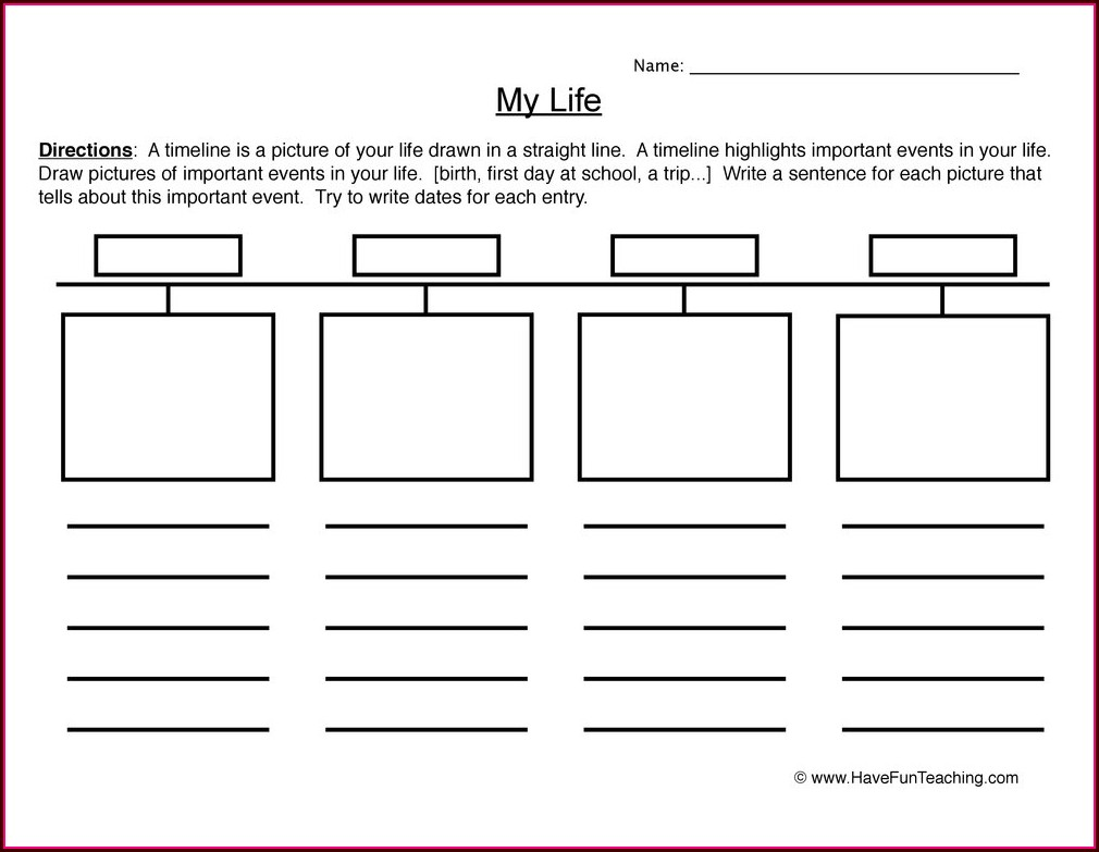 Second Grade 2nd Grade Timeline Worksheets