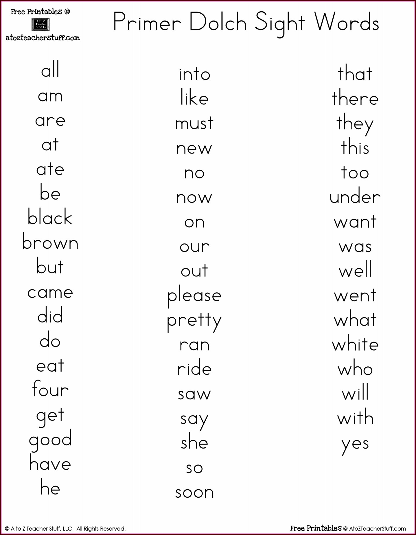 Spelling Words Worksheets Free