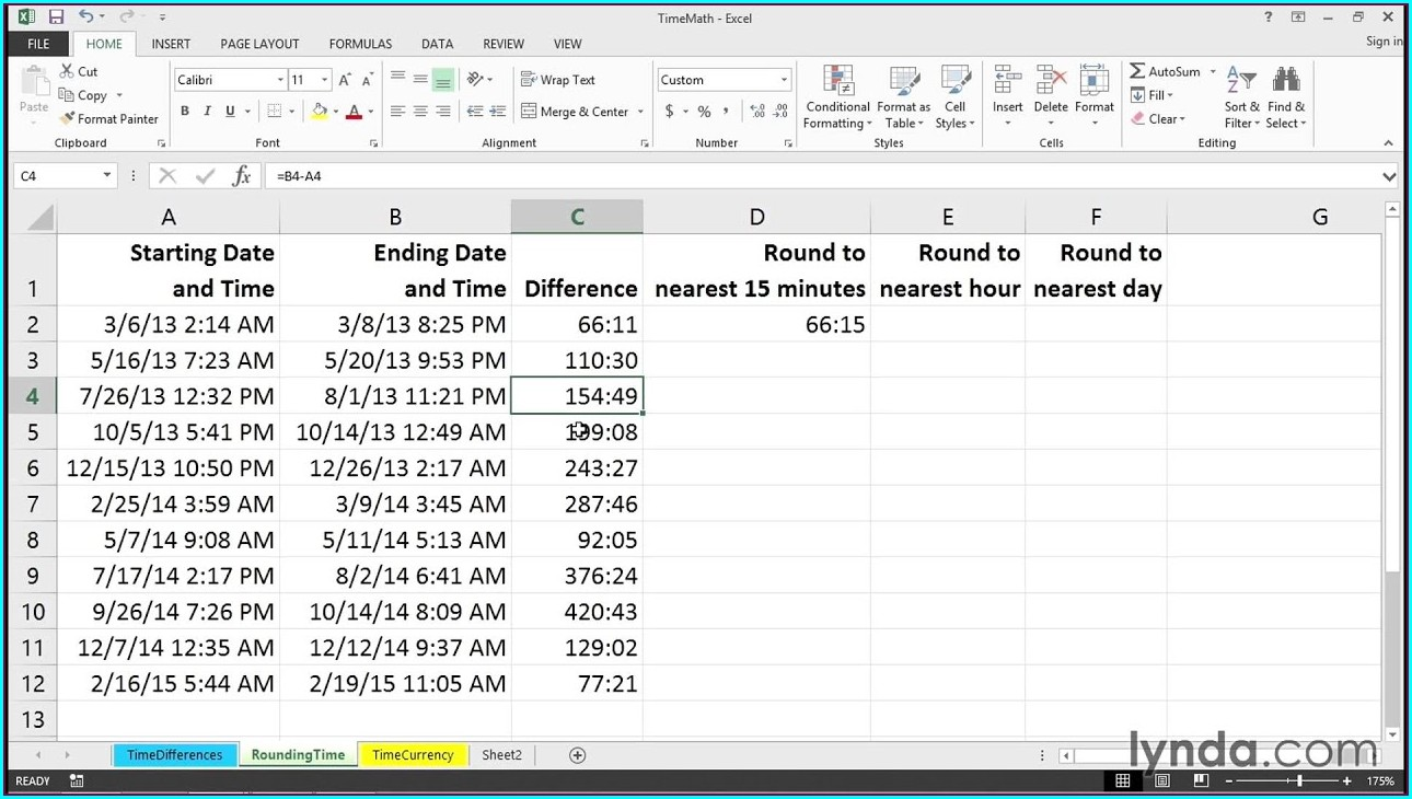 Time Calculator Excel Download