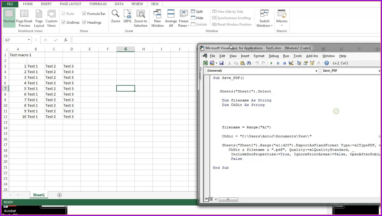 Vba Save Sheet In Pdf