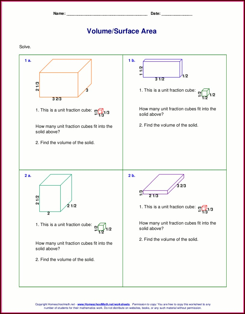 Volume Word Problems Worksheet Pdf