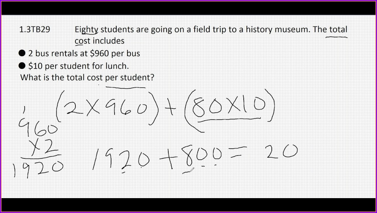 Worksheet For Order Of Operations Word Problems