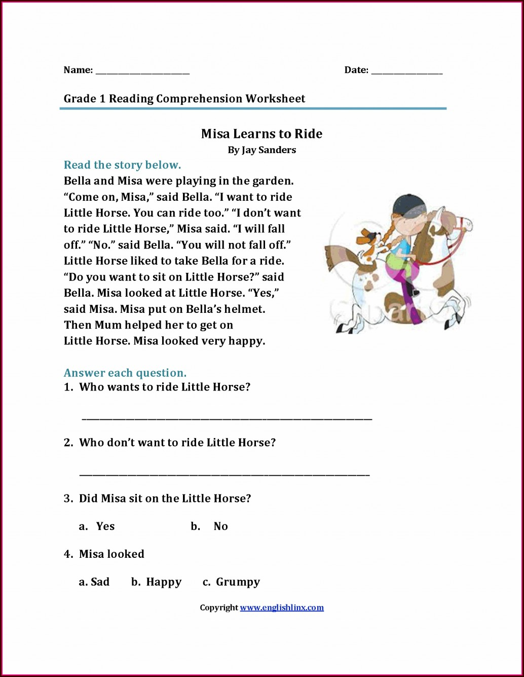 Worksheet With Sight Words