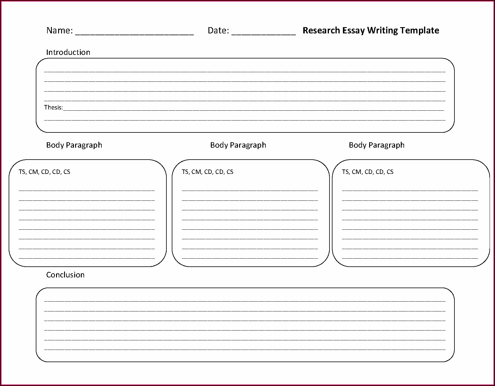 Worksheets On Writing A Research Paper