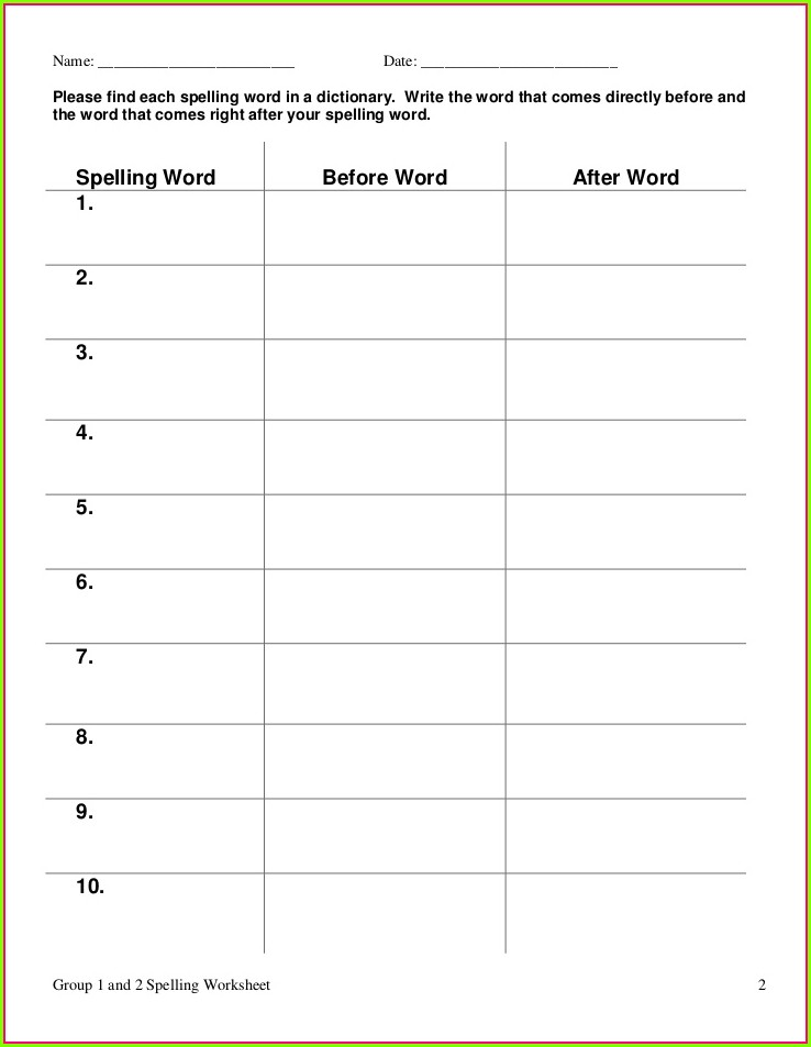 Write Words 3 Times Each Worksheet