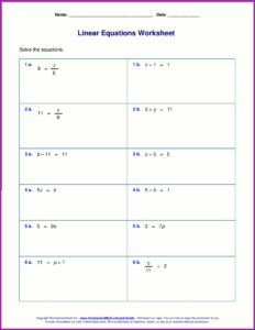 Writing And Solving Equations Worksheet Pdf