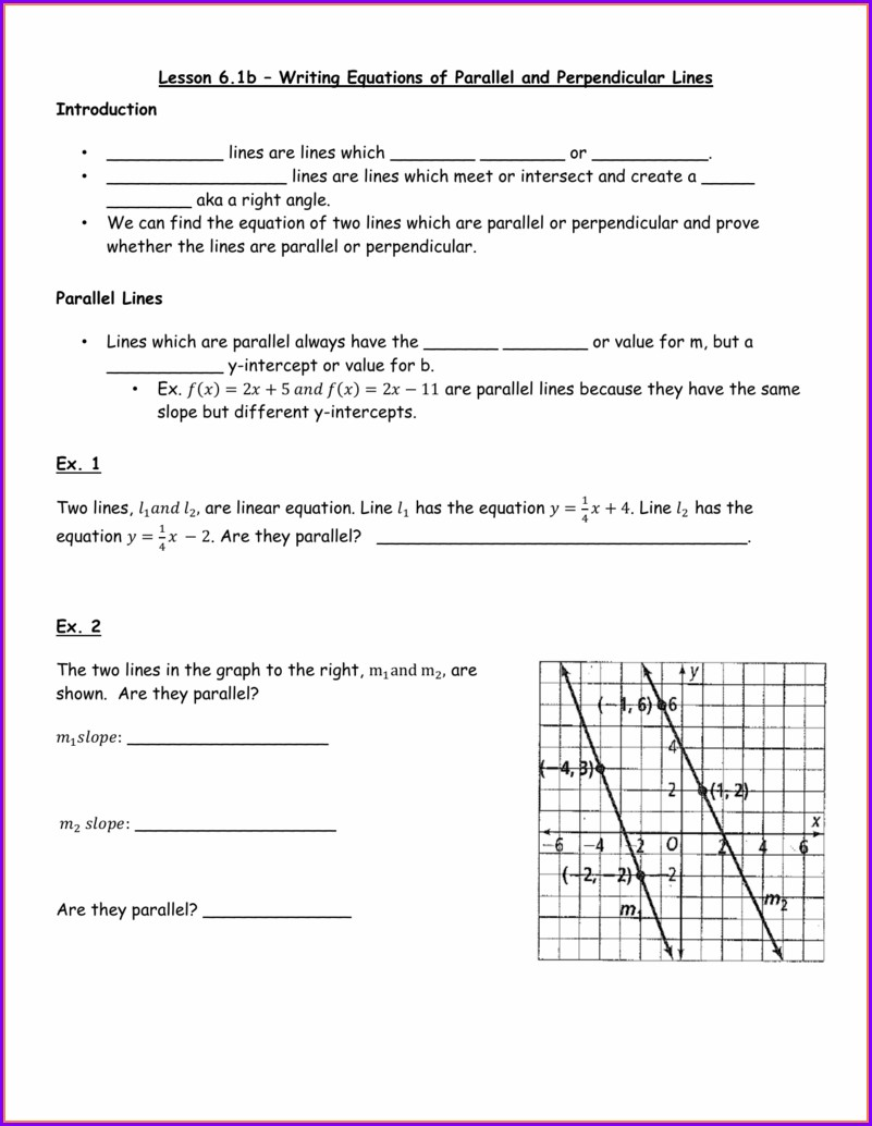 Writing Equations Of Lines Worksheet