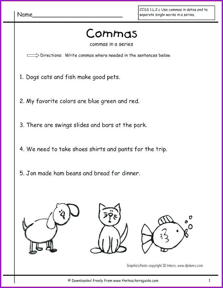 Writing Sentences Punctuation Worksheets