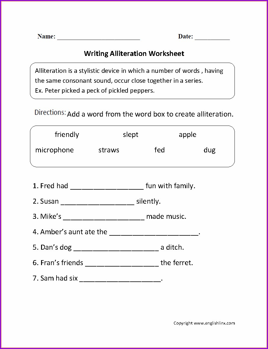 Writing Worksheet 2nd Grade