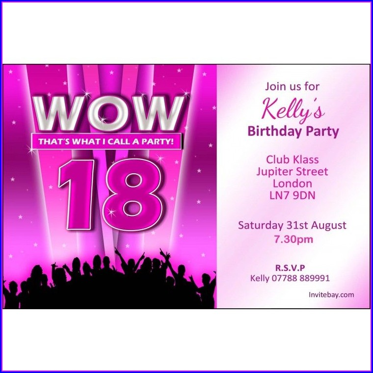 18th Birthday Invitation Text Message