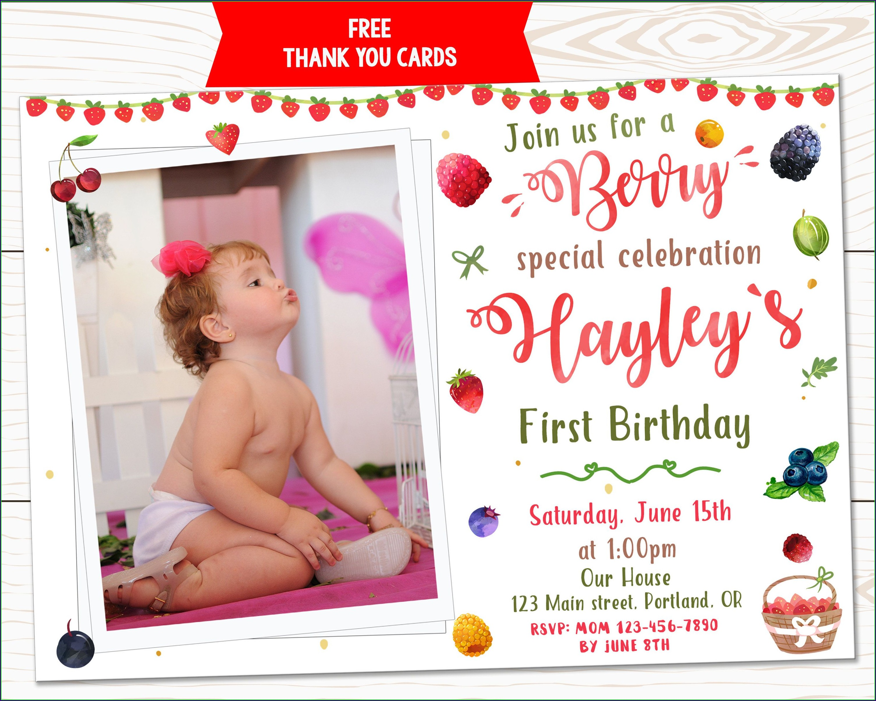 1st Birthday First Birthday Invitations Boy