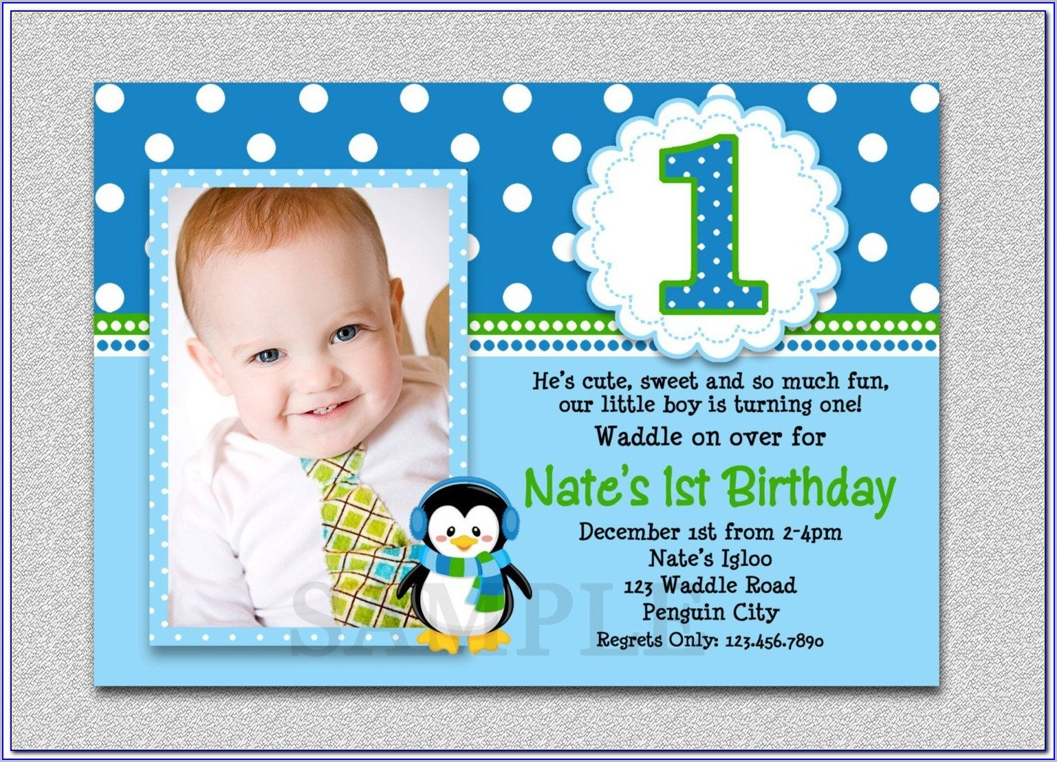 1st Birthday Invitation Template Free