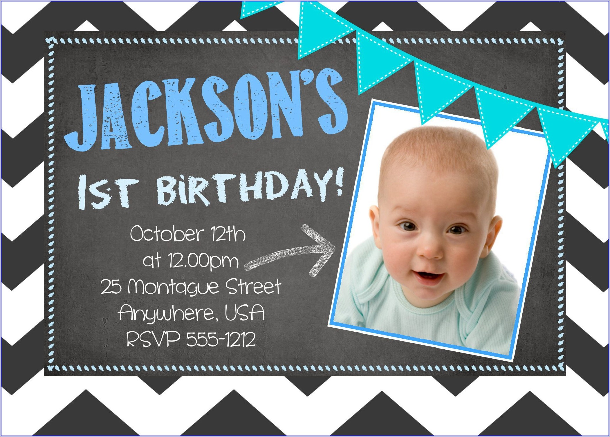 1st Birthday Invitation Wording For Baby Boy