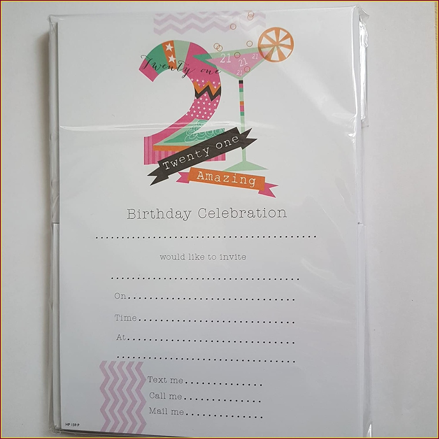 21st Birthday Invitations With Photo