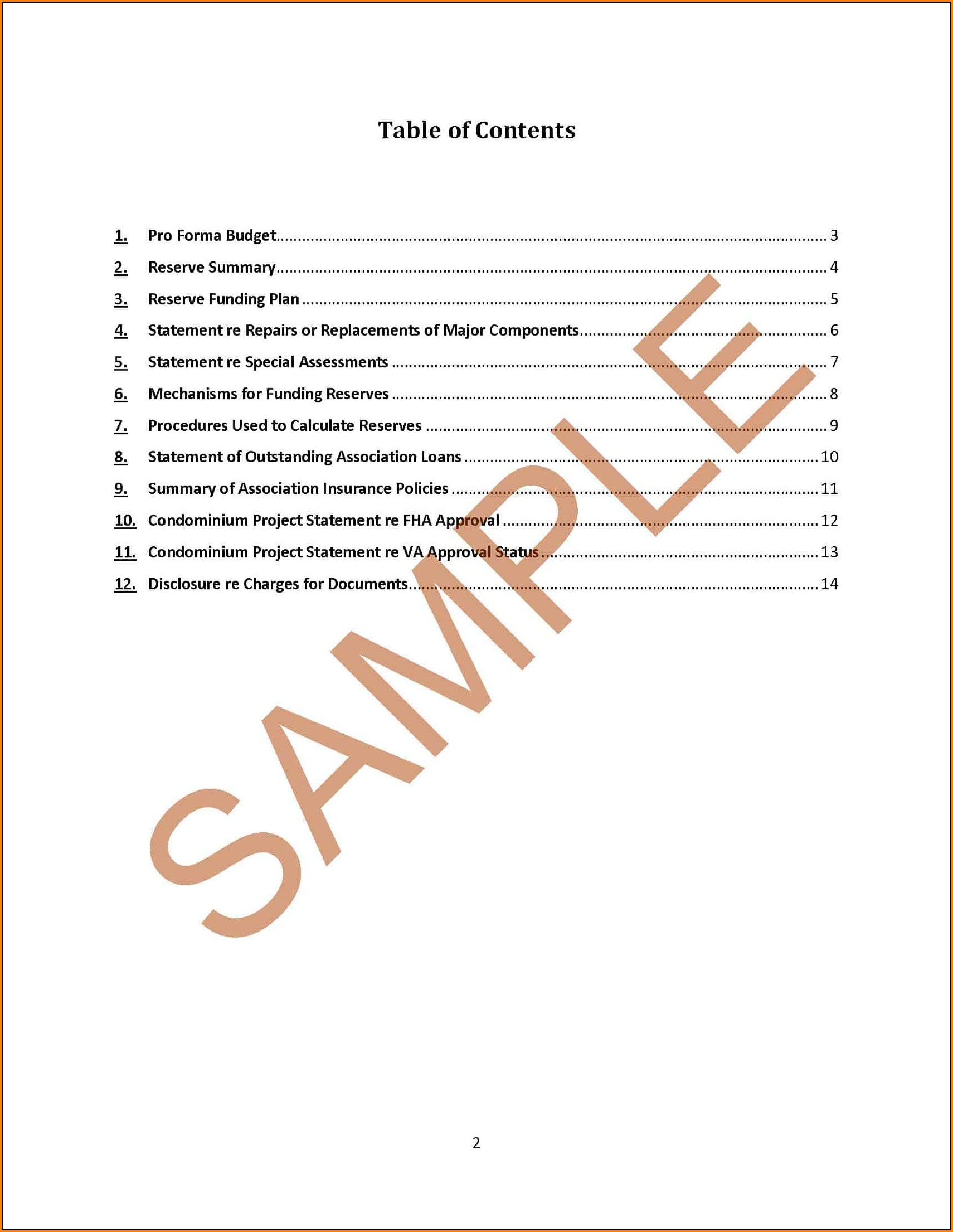 Annual Budget Report Format