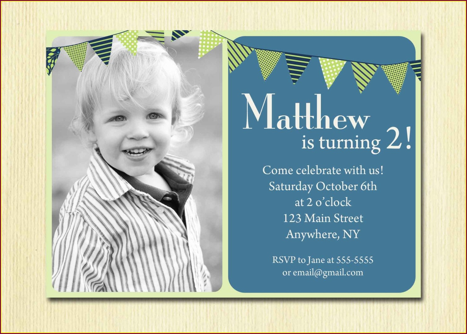 Baby Boy 1st Birthday Invitations