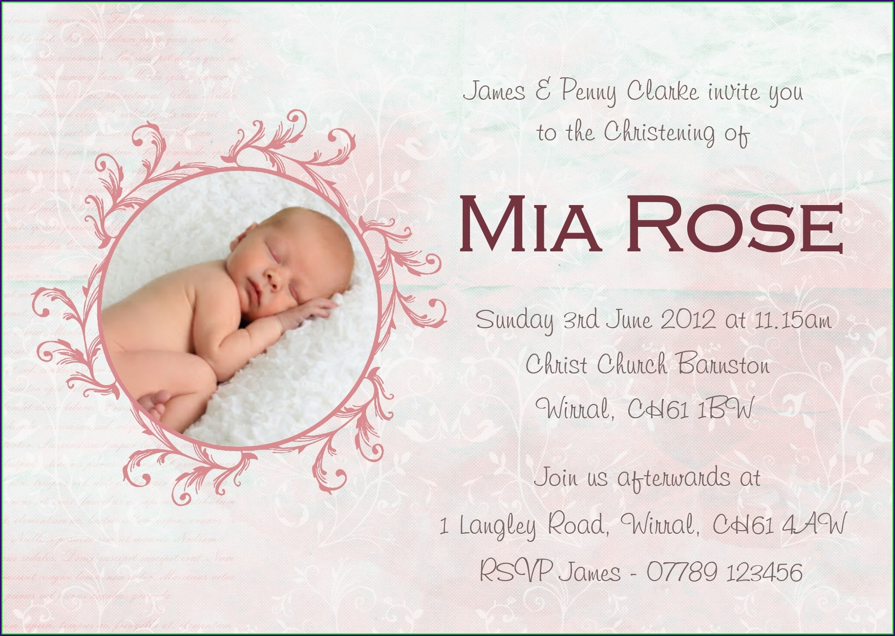 Baby Boy Invitations For Christening