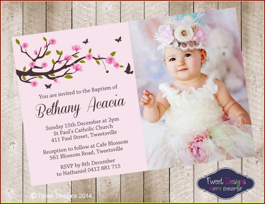 Baby Girl Invitations For Baptism