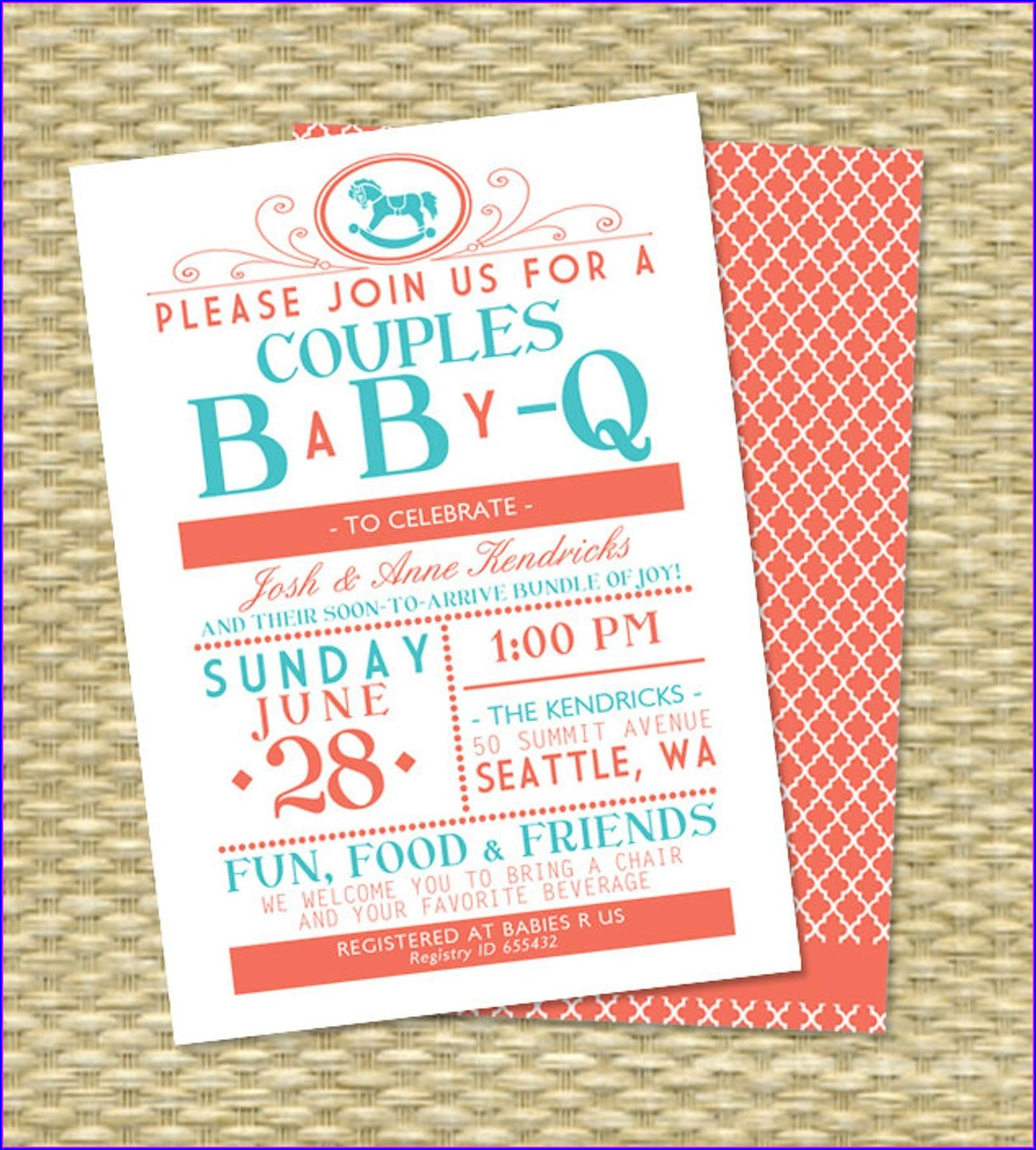 Baby Q Invitations Girl