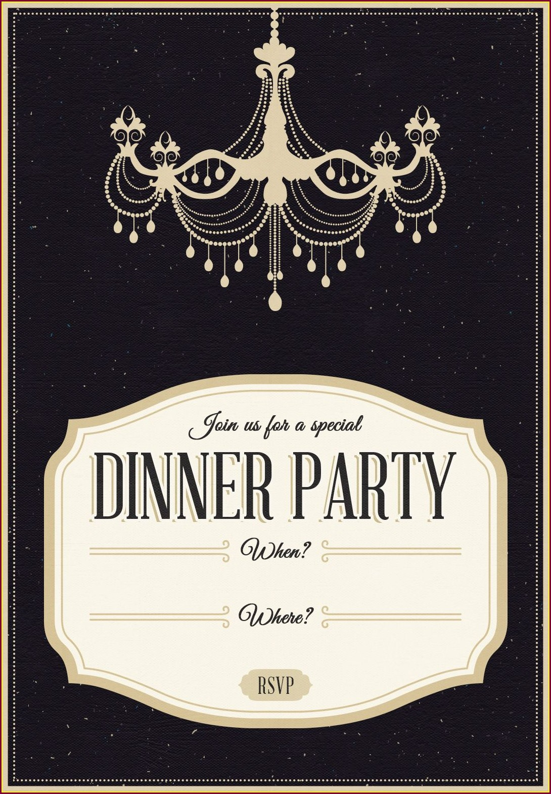 Birthday Dinner Invitation Template
