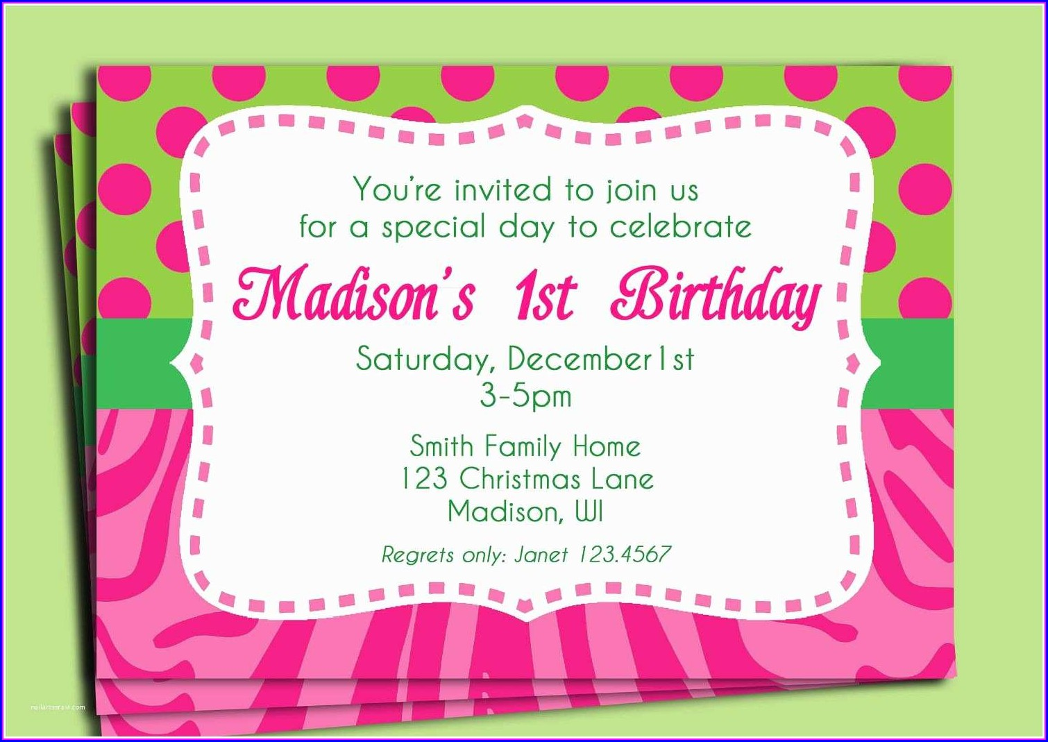 Birthday Invitation Text Message