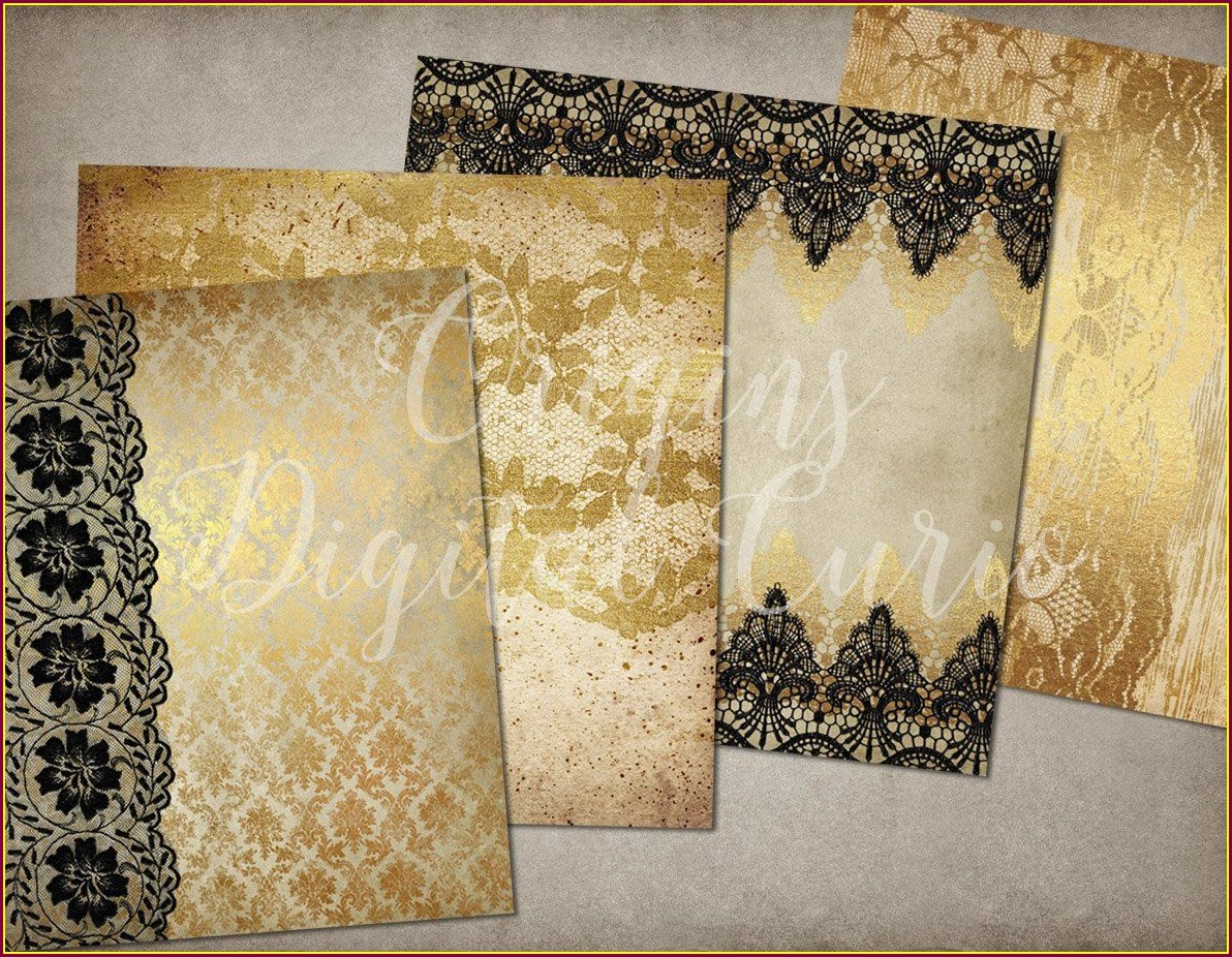 Black And Gold Wedding Invitations Background