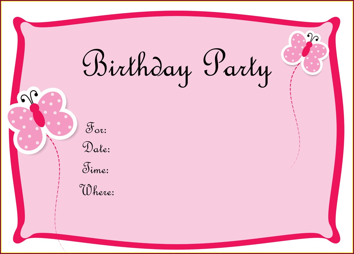 Blank 13th Birthday Invitations Free Templates