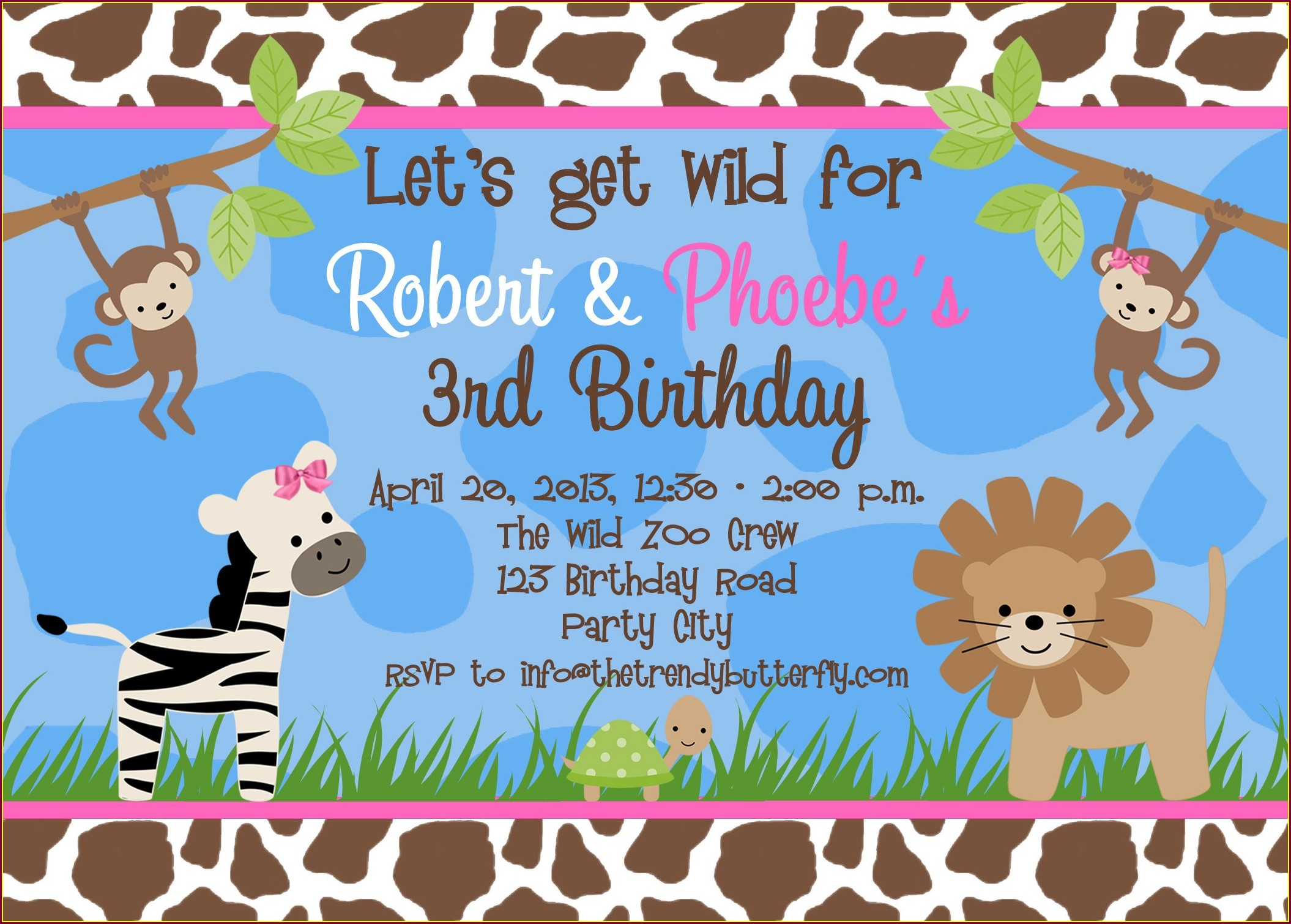 Blank 1st Birthday Invitations Boy Templates Free