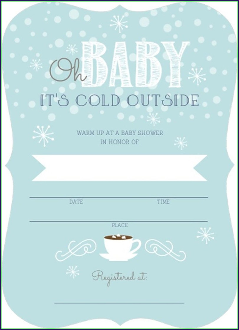 Blank Baby Boy Invitations