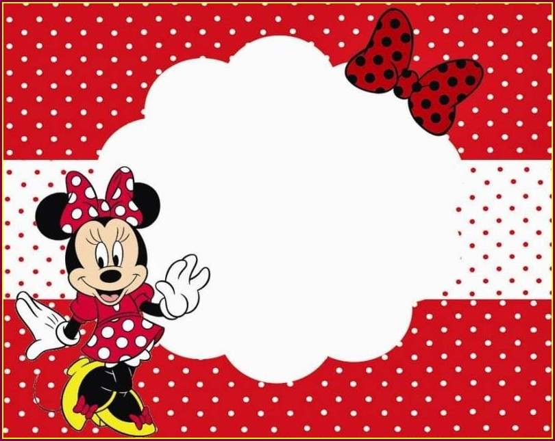 Blank Baby Minnie Mouse Invitation Template