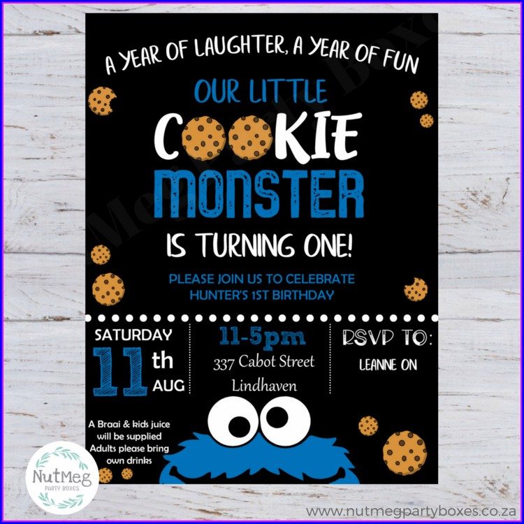 Blank Cookie Monster Invitations
