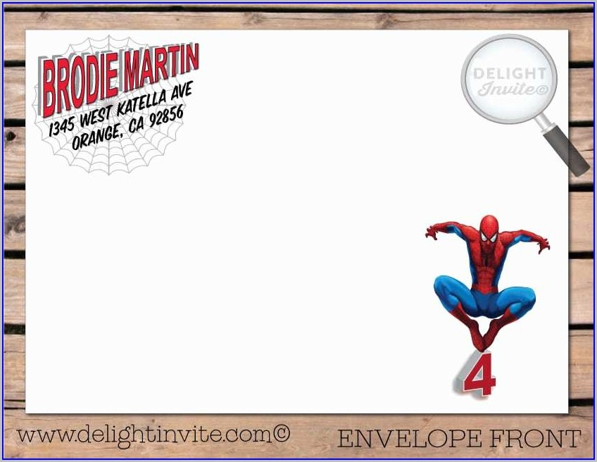 Blank Free Editable Spiderman Birthday Invitation Templates