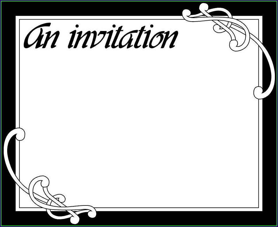 Blank Graduation Invitation Card Template