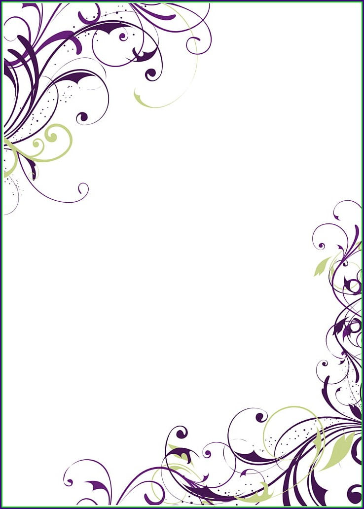 Blank Invitation Card Template Design