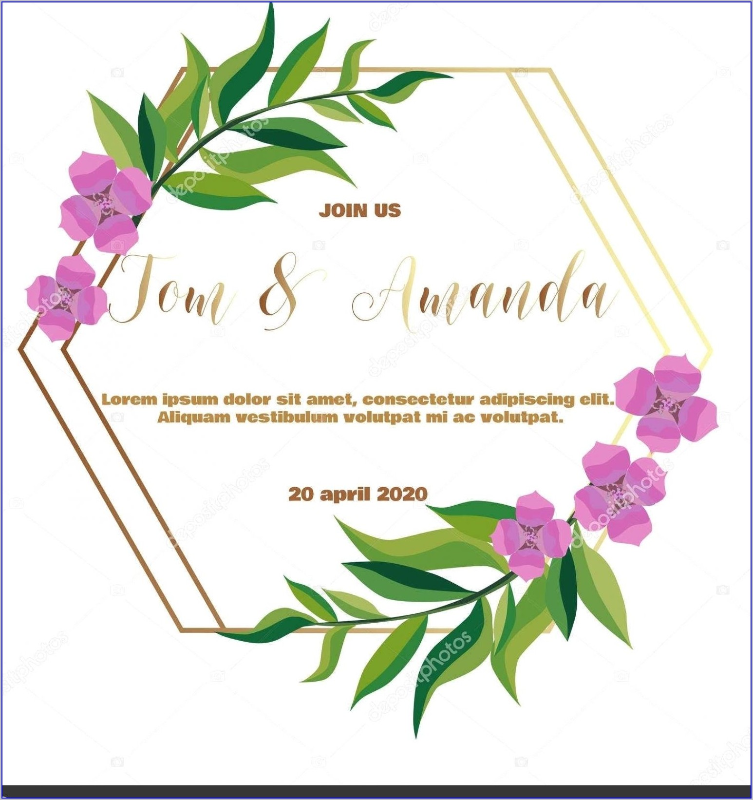 Blank Wedding Invitation Templates Floral