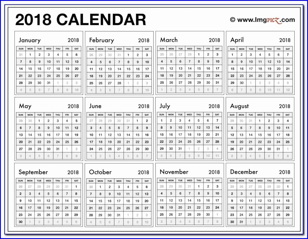 Blank Work Week Calendar Template