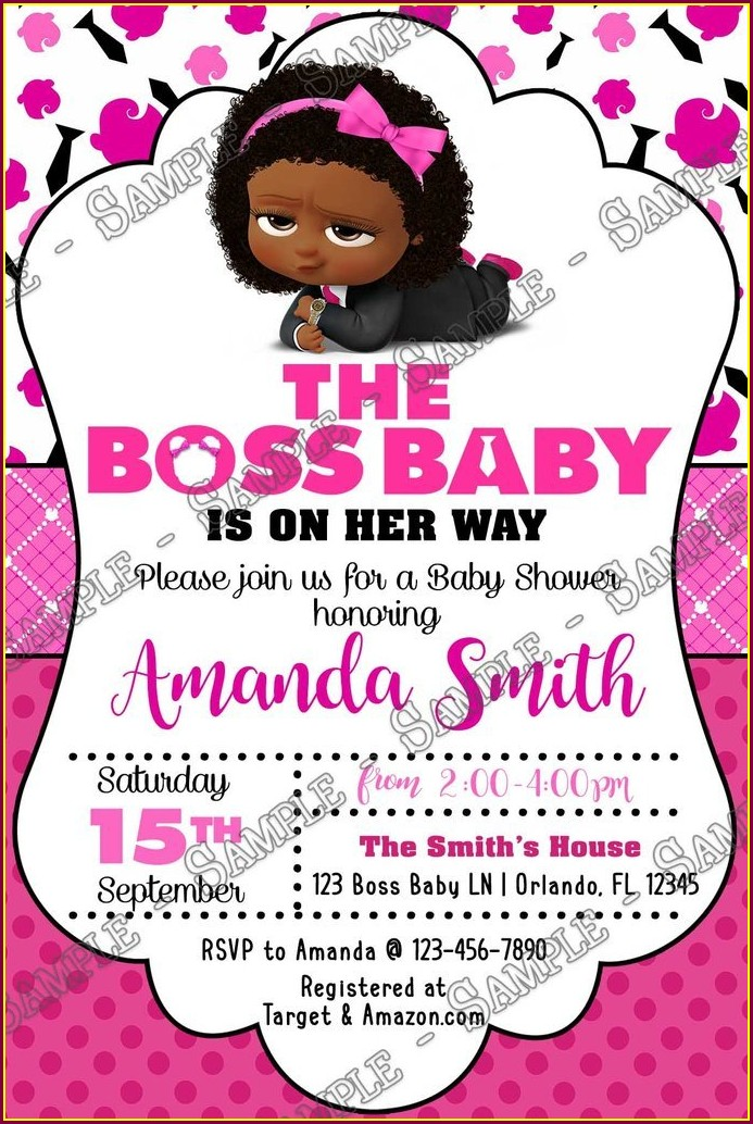 Boss Baby Girl Baby Shower Invitations