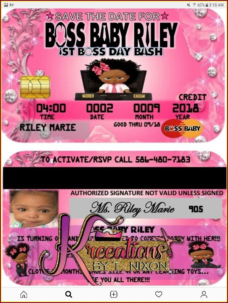 Boss Baby Girl Party Invitations