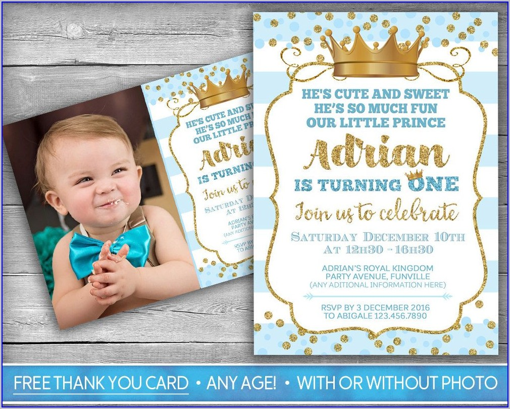 Boy 1st Birthday Invitation Template Free