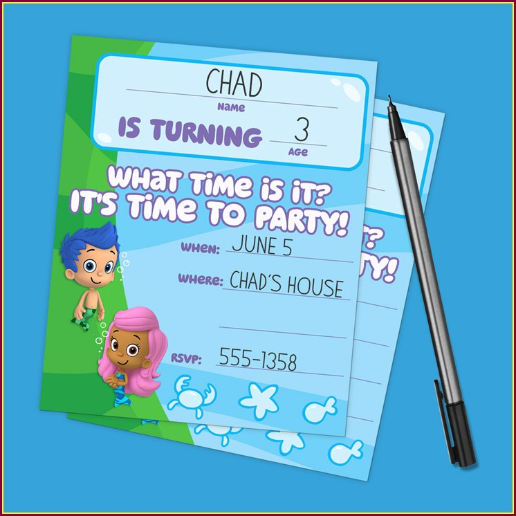 Bubble Guppies Invitations Zazzle