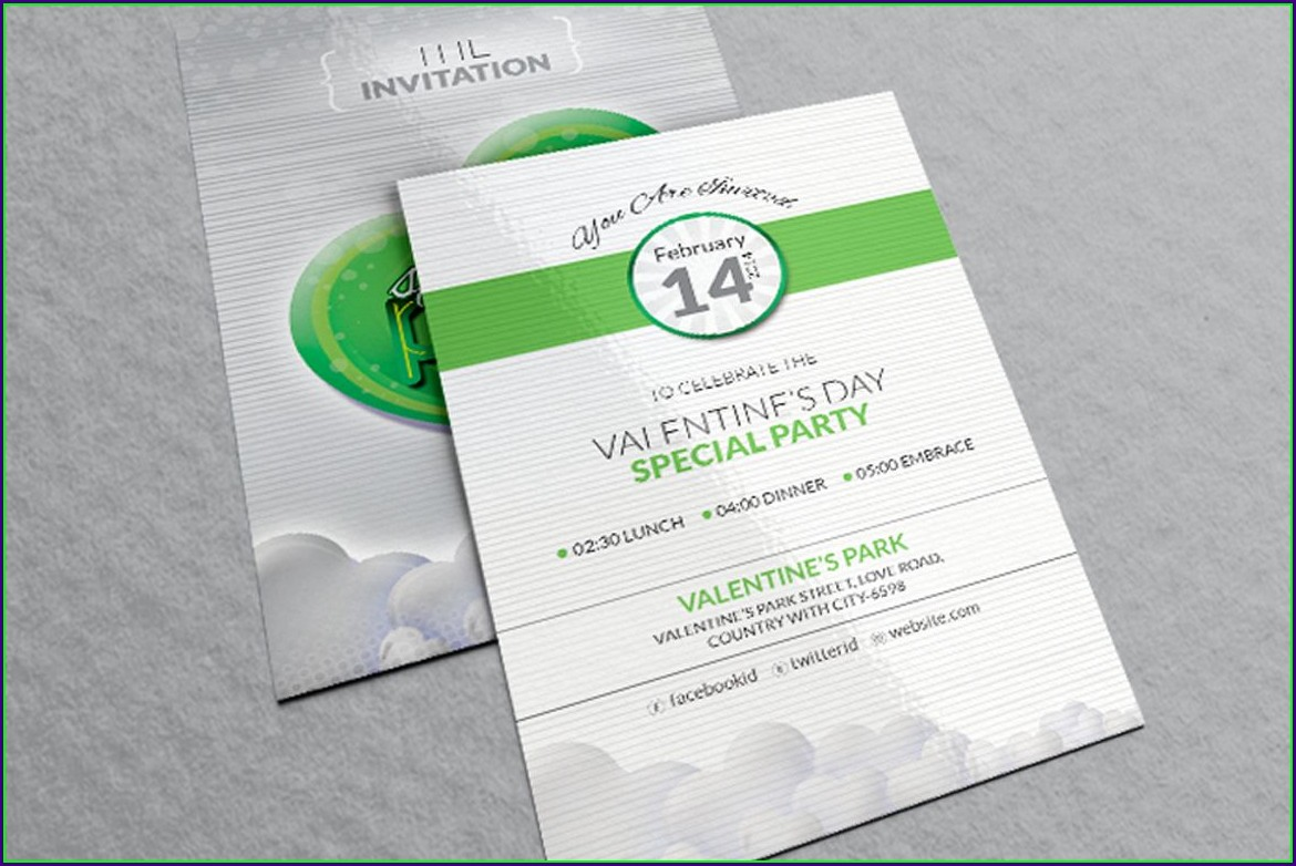Corporate Invitation Card Design Template